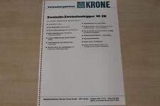 163367) Krone Zweiachs Zweiseitenkipper 90 ZK - Verkaufsargumente - Prospekt 198