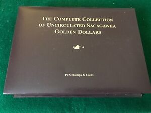 Complete Collection of Uncirculated Sacagawea Golden Dollars -T