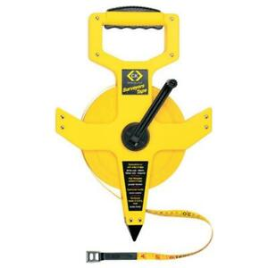 C.K. T3565 Wind-up Surveyor Hand Held Double Sided Professional Measuring Tape