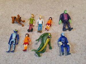 9 x Scooby Doo Action figures