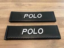 2X Seat Belt Pads Carbon Gifts VW Volkswagen Polo RLine TDI Match TSI R Sport TD