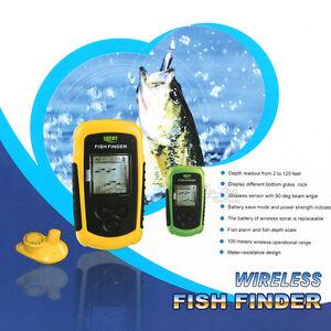 Lucky 40M Fishfinder Wireless Sonar echo sounder 100M Range Sea Fishing System