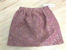 NWT Girls Peek Brocade Skirt Gold and Pink Metallic Size L 8 Years NEW