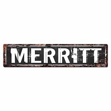 SLND0701 MERRITT Street Chic Sign Home man cave Decor Gift Ideas