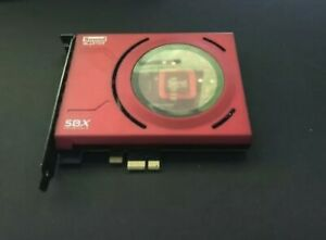 Creative Labs Sound Blaster Z SB1500 3D DAC SBX Core3D Red LEDs PCI Express 192k