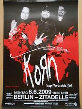 KORN 2009 BERLIN   orig.Concert-Konzert-Tour-Poster-Plakat DIN A1