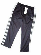 ADIDAS athletic PANTS white BLACK running CAPRI capris Small S