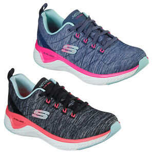 Skechers Solar Fuse - Motion Sensor Trainers Womens Running Sport Sneakers Shoes