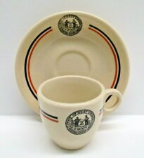 Carr China West Virginia State Park Demitasse Cup Saucer Restaurant Ware 1940-52