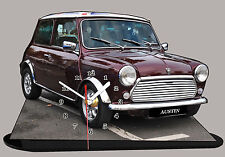 MODEL CARS, AUSTIN COOPER -07, car passenger,11,8x 7,8 inches  with Clock