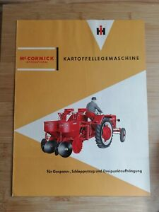 Orig. Schlepper Prospekt IHC Mc Cormick Kartoffellegemaschine IH Deering Traktor