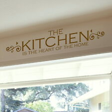 Heart of the Home Kitchen Wall Sticker / Quote Decal Vinyl Transfer SML/BRO kq15