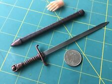"""Fantasy Sword & Scabbard"" 1:6 Scale Custom Steel Miniature By Auret"