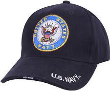 Navy Blue USN United States Navy Deluxe Adjustable Baseball Cap