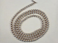 """STERLING SILVER NECKLACE  BALL BEADS 5mm   ITALY 30""""  NWOT"""