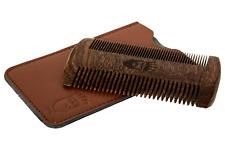 Cespuglioso Barba Baffi PETTINE TASCABILE DOPPIO LEGNO ANTI-STATICO della moda di alta qualità