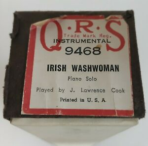 #9468 Irish Washwoman Piano Solo J. Lawrence Cook QRS 88 Note Player Piano Roll