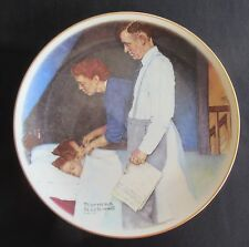 """Norman Rockwell """"Freedon From Fear"""" by Gorham - 10 5/8"""" Plate"""