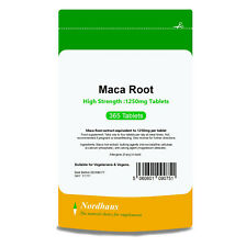 Maca Root 1250mg HIGH STRENGTH 365 Tablets - Nordhaus Supplements -  Made in UK
