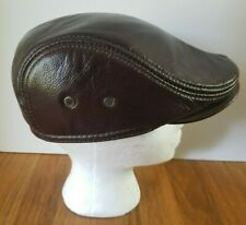 2591cec277f7a VEMOLLA Men s Real Leather Beret Hunting Cap Beanie