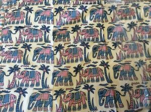 Luxury Baby Quilt - Pink / Blue Elephant Design - Duvet Bedspread Quilted Throw