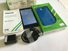 ZTE Sonata 3 Smartphone Cricket Blue Android Phone With FREE Screen Protection.