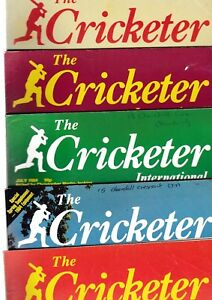 Various Issues of THE CRICKETER Magazine from January 1977 to December 1986