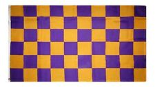 3x5 Advertising Checkered Checker Purple Gold Race Flag 3'x5' Grommets
