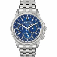 New Citizen Men's Eco Drive Calendrier Stainless Steel Watch BU2021-51L