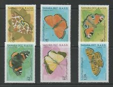 Thematic Stamps Animals - SAHARA 1997 BUTTERFLYS 6v mint