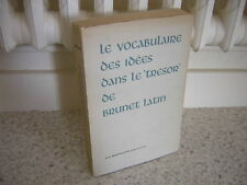 1963.vocabulair trésor Brunet Latin.Messelaar.moyen age