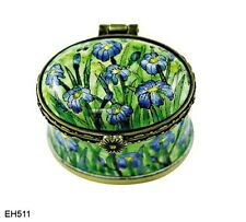 KELVIN CHEN Enamel Mini Copper Handpainted TOOTH FAIRY BOX- IRIS VAN GOGH