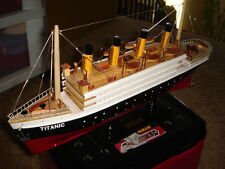 Titanic wooden model cruise ship 16""