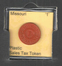 MISSOURI '1' PLASTIC SALES TAX TOKEN  1940s