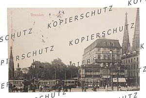 Postkarte, AK DRESDEN POSTPLATZ, gelaufen. ca. 1910-20, Ansichtskarte Sachsen
