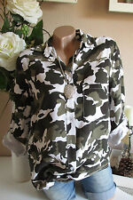 New Shirt Blouse Camouflage Army Military Style Shirt Blouse One Size 36 38 40