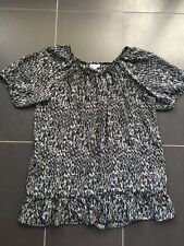 Pretty MILLERS Sheer Peasant Like Animal Print Top  = 14 16 18?