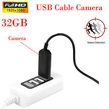 32GB 1080P Spy USB Cable Phone Charger Camera Mini Motion Detection Camcorder DV
