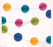 Hawaiian Luau Tropical Easter Party Colour Honeycomb Garland Decoration Banner