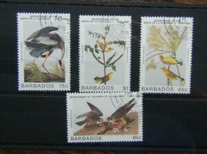 Barbados 1985 Birth Bicentenary of John J Audubon Birds set Fine Used