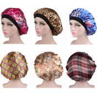 Long Hair Care Women Satin Bonnet Cap Night Sleep Hat Silk feel Cap Head Wrap