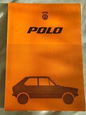 VW Polo brochure 1978