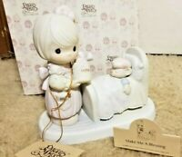 "1987 Precious Moments ""Make Me A Blessing"" Porcelain Figurine 100102 Sick Bear"