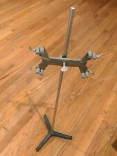 Antique Laboratory Lab Retort Stand Heavy Cast Iron Fisher Castaloy 3361 Clamp