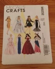 """VINTAGE MCCALLS BARBIE DOLL CLOTHES PATTERN M6232 SIZE 11.5"""" FREE SHIPPING"""