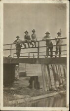 Men on Bridge - Construction? Nassau or Nashua MN Cancel 1916 RPPC
