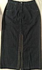 Blue Willi's Denim Skirt Wool Trim Long Maxi Womens Sz 38 EUR/6 US -Mint!