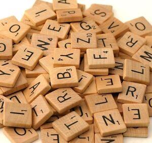 Scrabble Individual Original Wooden Tiles Letters Replacement Craft Scrapbooking