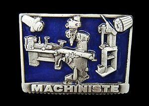Boucle de Ceinture Machinist Machiniste Machinery Machine Shop Tool Belt Buckle