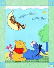 Night Night Little Bee - Winnie The Pooh - Cot Quilt Craft Panel - Cotton Fabric